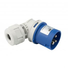 Enchufe industrial macho volante 90° 2P+T 16A 230V IP44