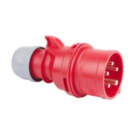 Enchufe industrial macho volante 3P+T 32A 400V IP44