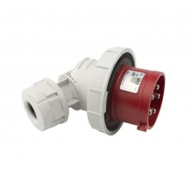 Enchufe industrial macho volante 90° 3P+N+T 32A 400V IP67