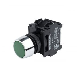 PILOTO LED RASANTE VERDE 22mm  220Vca NV222 BLOCK DESMONTABLE