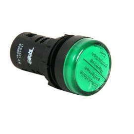 PILOTO LED 22MM VERDE 110V